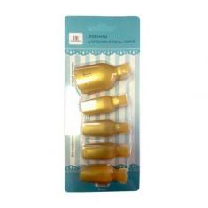 TNL, Зажимы для снятия искусственных покрытий для ног, золотые TNL Professional