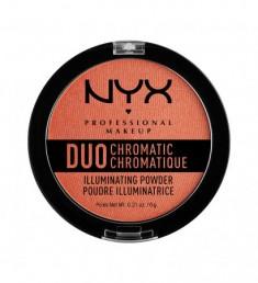 NYX PROFESSIONAL MAKEUP Сухой хайлайтер Duo Chromatic Illuminating Powder - Synthetica 05