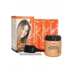 Kativa Keratina кератиновое выпрямление и восстановление волос с маслом Арганы набор
