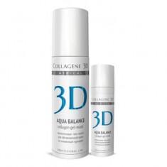 Коллаген 3Д Гель-маска для лица AQUA BALANCE с гиалуроновой кислотой восстановление тургора и эластичности кожи Collagene 3D