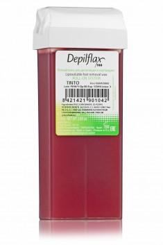 DEPILFLAX 100 Воск для депиляции в картридже, вино 110 г