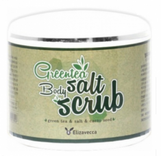 Скраб для тела с экстрактом зеленого чая ELIZAVECCA Milky piggy greentea salt body scrub 600г
