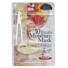 Маска с экстрактами 10 фруктов JAPAN GALS Pure5 Essential 7 шт