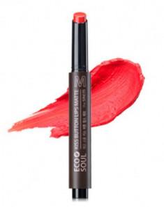 Помада для губ матовая THE SAEM Eco Soul Kiss Button Lips Matte 04 Cool Smile 2 2гр