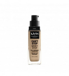 NYX PROFESSIONAL MAKEUP Тональная основа Can't Stop Won't Stop Full Coverage Foundation Nude 65