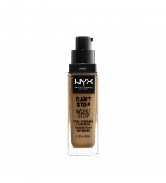 NYX PROFESSIONAL MAKEUP Тональная основа Can't Stop Won't Stop Full Coverage Foundation - True Beige 08