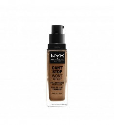 NYX PROFESSIONAL MAKEUP Тональная основа с плотным покрытием Can't Stop Won't Stop Full Coverage Foundation - Warm Caramel 157