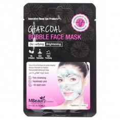очищающая пузырьковая маска для лица с древесным углем mbeauty charcoal bubble face mask