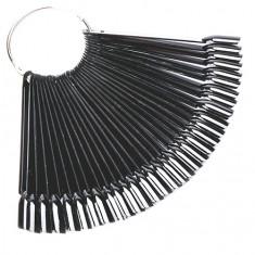 ruNail, Палитра-веер для лаков черная, 50 шт