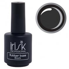 IRISK PROFESSIONAL База каучуковая камуфлирующая для ногтей, черная / Rubber Base Black 18 мл