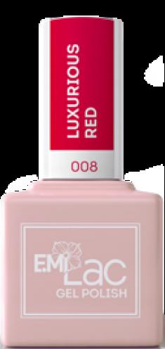 E.MI 008 гель-лак для ногтей, Роскошный красный / E.MiLac 9 мл