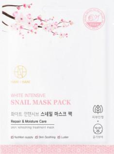 Тканевая маска с экстрактом муцина улитки HANIxHANI White Intensive Snail Mask Pack 25 мл