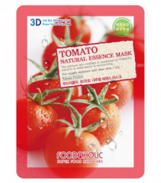 Тканевая 3D маска с томатом FoodaHolic Tomato Natural Essence Mask 23 мл