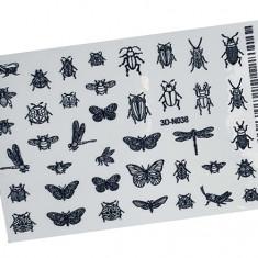 AnnaTkacheva,3D-стикер№038,черный «Насекомые. Бабочки» Anna Tkacheva