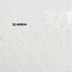 Anna Tkacheva, 3D-стикер №044 «Цветы. Листья», белый