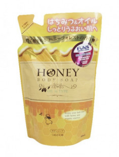 Гель для душа с экстрактом меда и маслом жожоба FUNS Honey Oil 400 мл