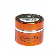 Planet nails, spider gel, гель-паутинка, золотая, 5 г
