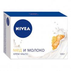Nivea Мыло-уход Мед и молоко 100г