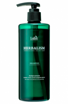 Успокаивающий шампунь против выпадения волос HERBALISM SHAMPOO 400мл La'dor
