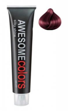 Краска для волос Awesome Colors Silky Shine 66/65 интенсивный темно-русый фиолетово-махагоновый 60мл