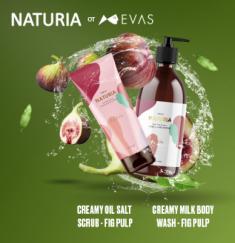 Гель для душа ИНЖИР EVAS NATURIA Creamy Milk Body Wash Fig Pulp 750 мл